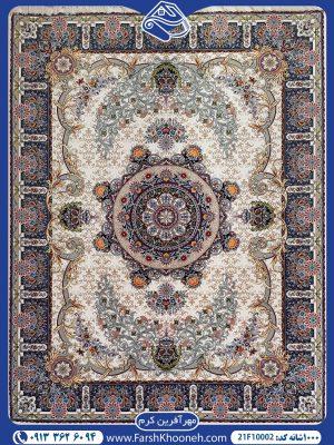 فرش ماشینی 1000 شانه طرح مهرآفرین