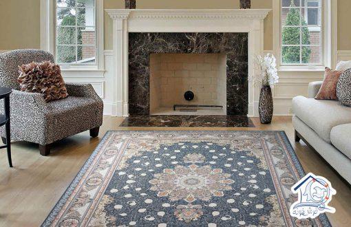 فرش ماشینی 1500 شانه گل برجسته طرح نوین