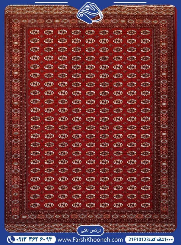 فرش ماشینی 1000 شانه طرح ترکمن