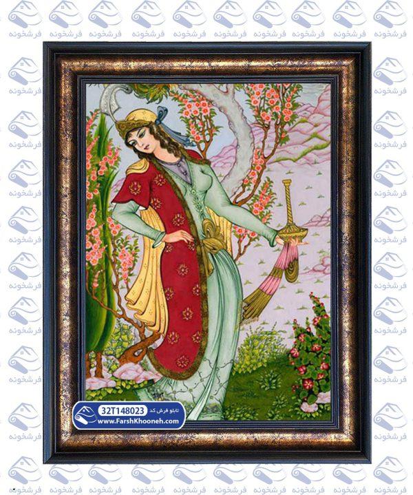 تابلو فرش طرح ملکه پارسی