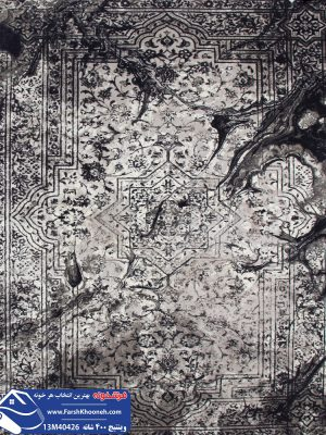 فرش پتینه 12 متری طوسی شیک و زیبا