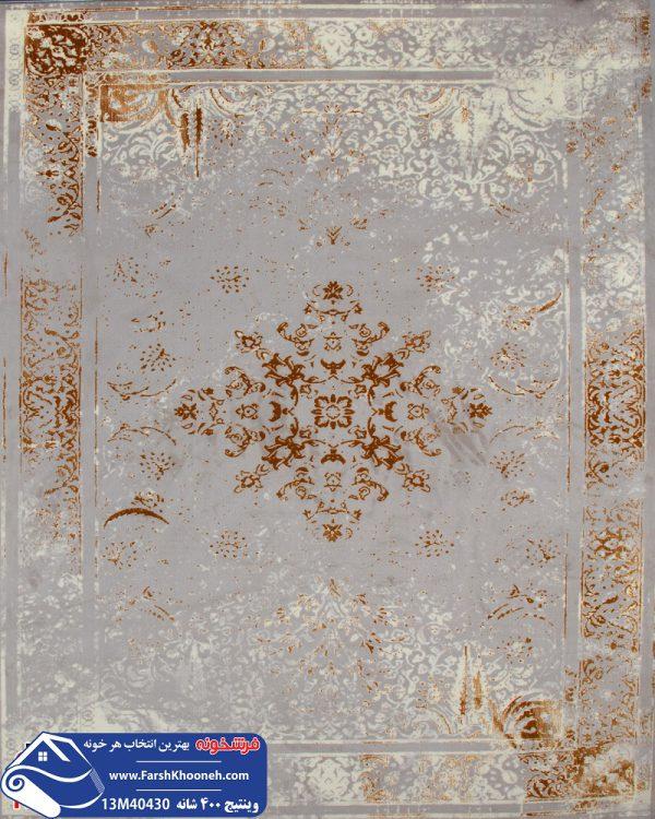 فرش وینتیج طوسی کد 13M40430