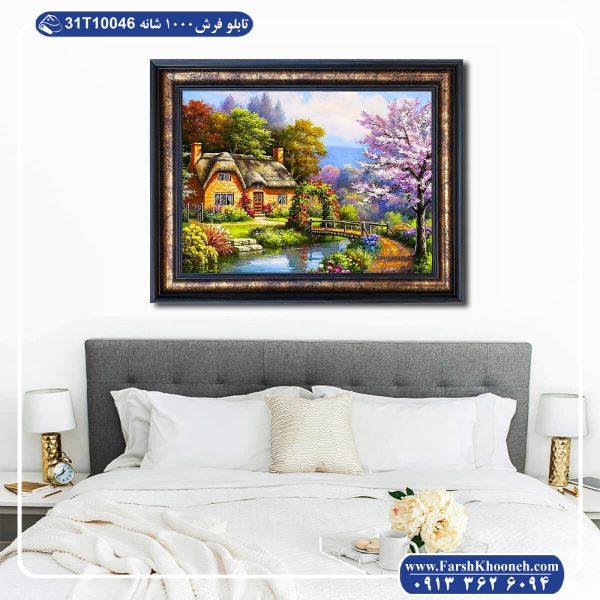 تابلو فرش طرح باغ بهاری