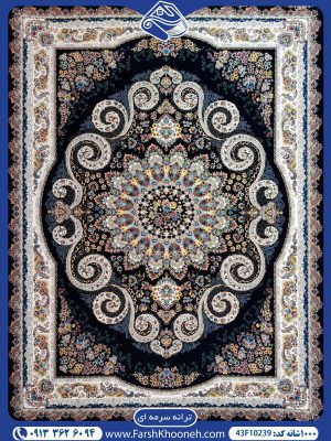 فرش ماشینی 1000 شانه طرح ترانه