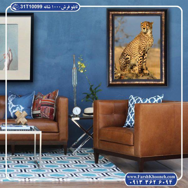 تابلو فرش طرح پلنگ 1000 شانه