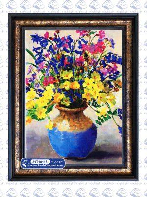 تابلو فرش طرح گل های رنگارنگ