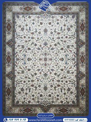 فرش ماشینی 1000شانه طرح افشان درباری