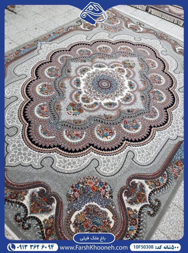 فرش ماشینی 500 شانه طرح باغ ملک