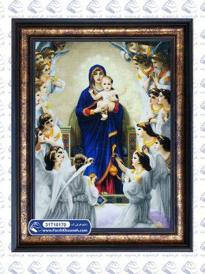 تابلوفرش طرح مریم مقدس و فرشتگان