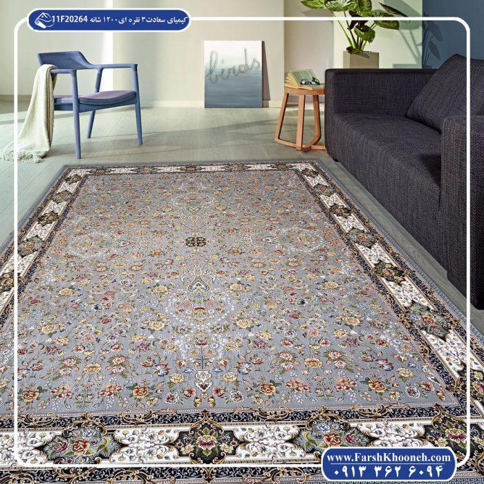 فرش گل برجسته 1200 شانه طرح کیمیای سعادت