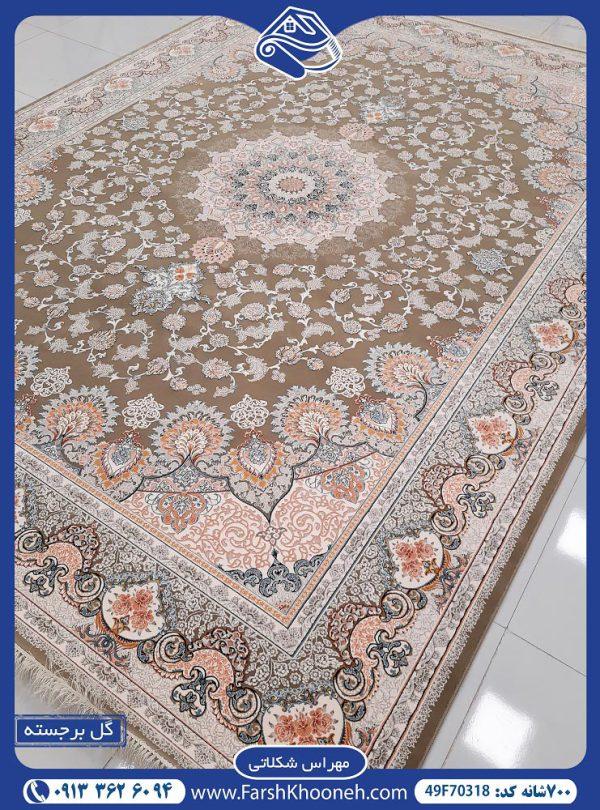 فرش ماشینی 700 شانه طرح مهراس