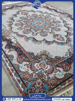 فرش ماشینی ورژن طرح نیلا فیلی