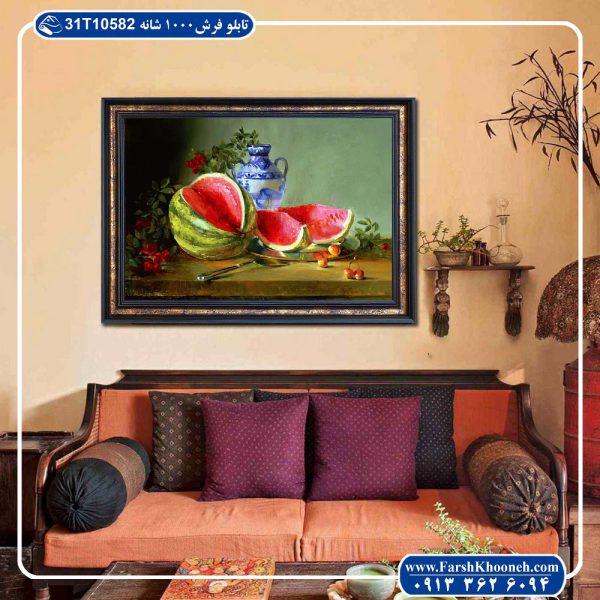 تابلو فرش نقاشی طرح شب یلدای باستانی 02
