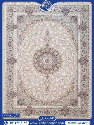 فرش ماشینی 1200 شانه طرح گلشید گل برجسته02