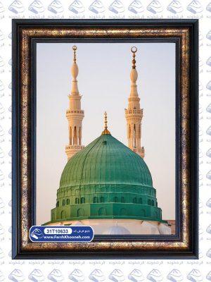 تابلو فرش مذهبی طرح گنبد و گلدسته مسجد النبی