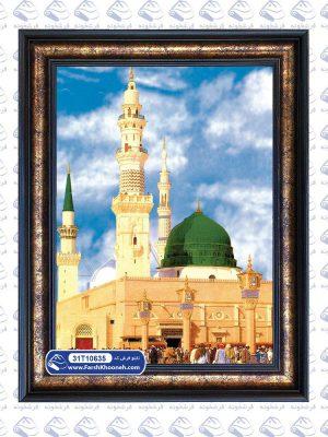 تابلو فرش مذهبی طرح نمای مسجد النبی مدینه