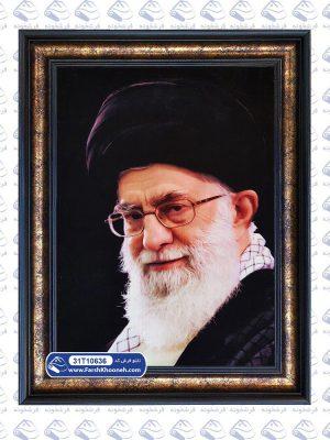 تابلو فرش پرتره طرح تمثال رهبر ایران