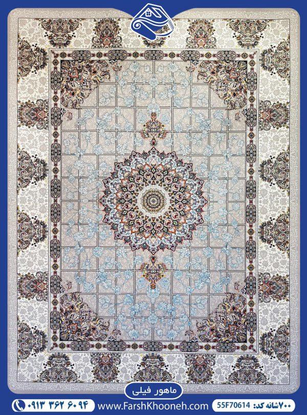فرش ماشینی 700شانه طرح ماهور یکی از طرح های بسیار زیبا در فرش های 700 شانه که با 7 روز ضمانت بازگشت و 36 ماه ضمانت آماده فروش می باشد.