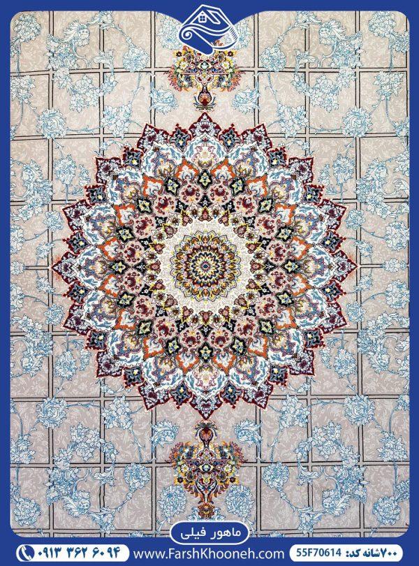 فرش ماشینی 700شانه طرح ماهور یکی از طرح های بسیار زیبا در فرش های 700 شانه که با 7 روز ضمانت بازگشت و 36 ماه ضمانت آماده فروش می باشد. 02