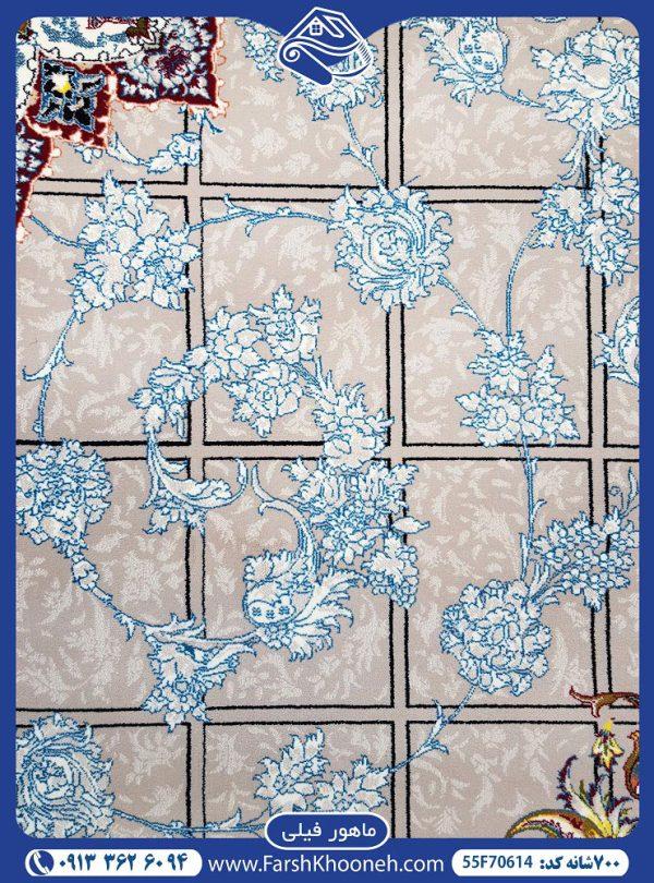 فرش ماشینی 700شانه طرح ماهور یکی از طرح های بسیار زیبا در فرش های 700 شانه که با 7 روز ضمانت بازگشت و 36 ماه ضمانت آماده فروش می باشد. 03