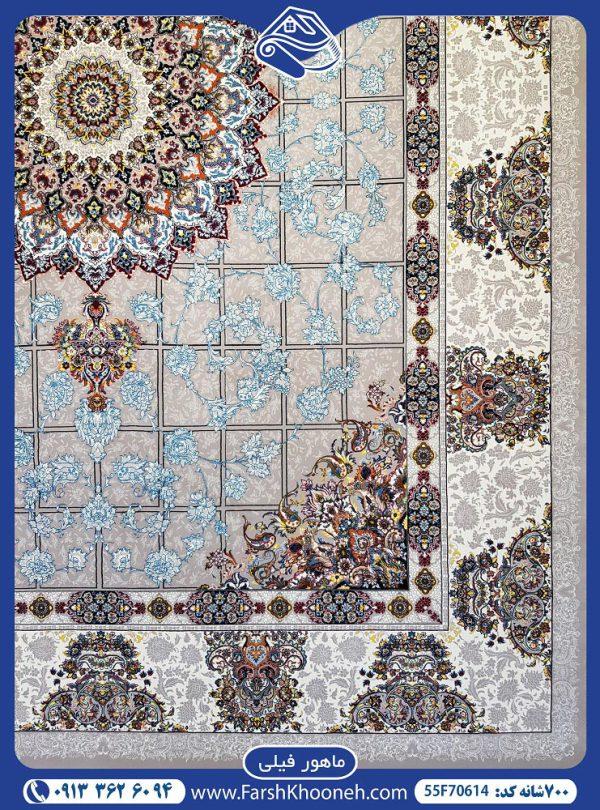 فرش ماشینی 700شانه طرح ماهور یکی از طرح های بسیار زیبا در فرش های 700 شانه که با 7 روز ضمانت بازگشت و 36 ماه ضمانت آماده فروش می باشد. 04