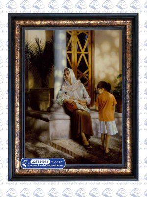 تابلو فرش ایرانی طرح مادر و فرزندان