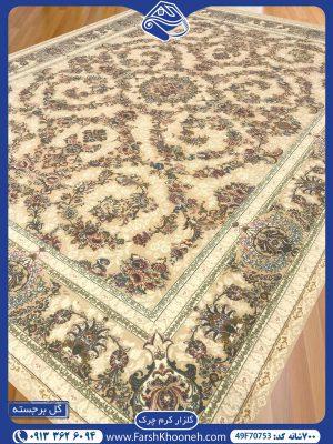 فرش ماشینی 700 شانه طرح گلزار