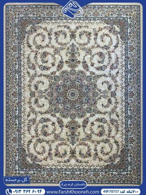 فرش ماشینی 700 شانه طرح باغستان