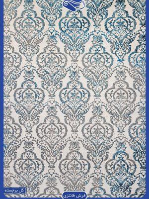 فرش طرح سنتی نقره ای کرم