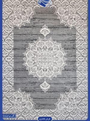نمای کاملی از فرش مدرن طوسی