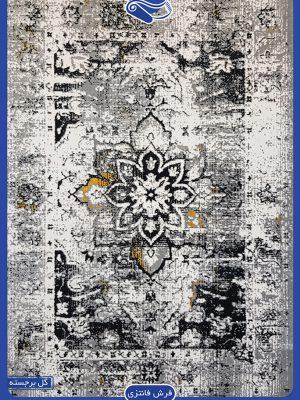 فرش پتینه طوسی با طرحی خاص و متفاوت