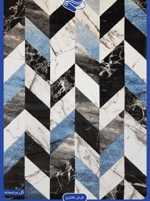 فرش اشکال هندسی در رنگ بندی زیبا