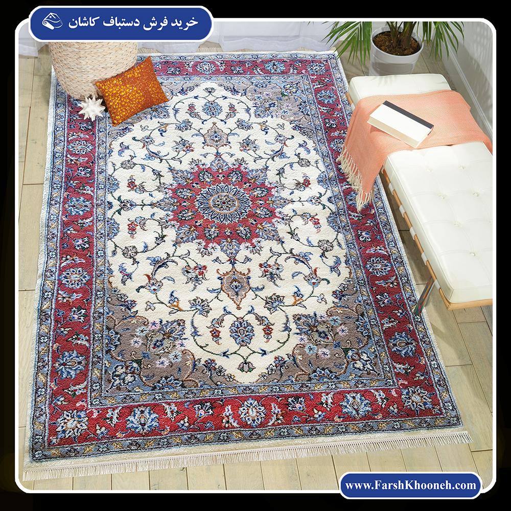 فرش دستباف کاشان با کیفیت و رنگ بندی عالی