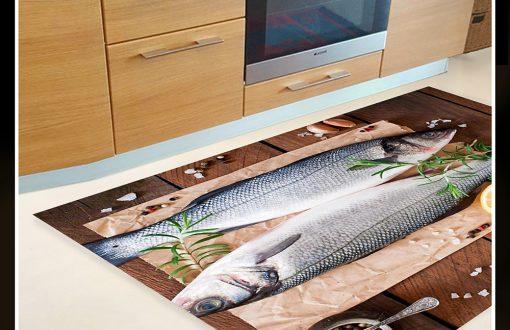 خرید فرش آشپزخانه طرح ماهی