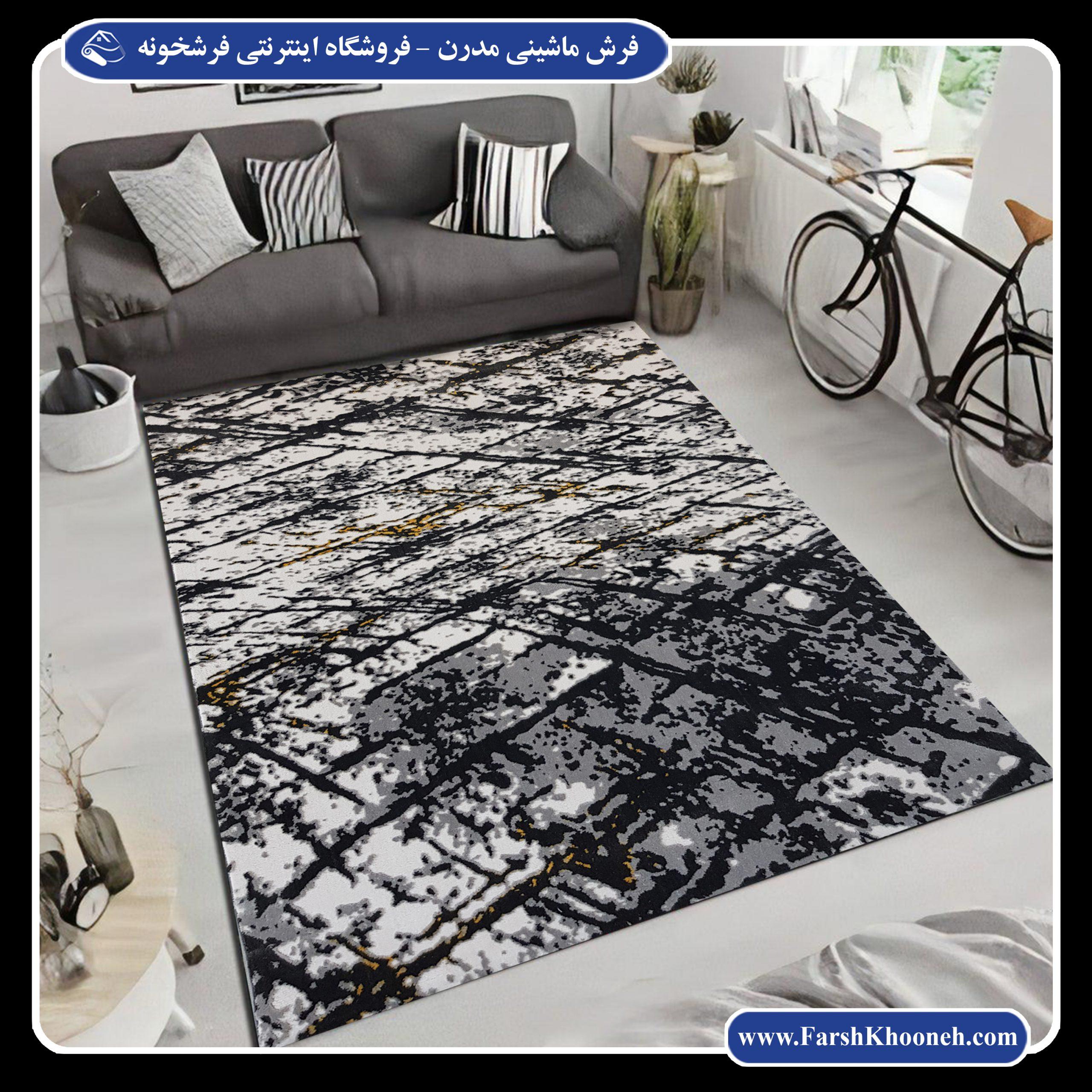 فرش ماشینی طرح مدرن و فانتزی برای اتاق خواب