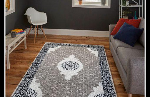 خرید فرش فانتزی طوسی طرح سنتی